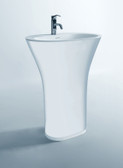 Bonelli - Modern Bathroom Pedestal Sink Cast Stone 25.2""