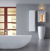 Fiori II - Modern Bathroom Pedestal Sink 21.65""