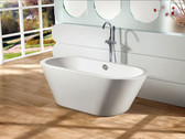 Amadeo Acrylic Modern Freestanding Soaking Bathtub 63""