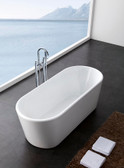 "Prospero Acrylic Modern Bathtub 59"" - NEW DESIGN!"