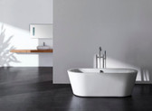 "Govina Acrylic Modern Bathtub 63"" - NEW DESIGN!"