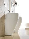 Modern Bathroom Pedestal Sink - Cerchio