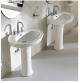 Modern Bathroom Pedestal Sink - Capani