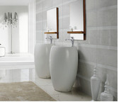 Modern Bathroom Pedestal Sink - Vinci