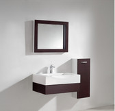 Aura Modern Bathroom Vanity Set with Side Cabinet and LED Mirror 29.5""