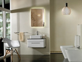 Serenity Modern Bathroom Vanity Set with Backlit  LED Mirror 27.6""