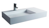 Malibu II Designer Solid Surface Bathroom Sink 35.4""