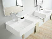 Arezzo II Cast Stone Modern Bathroom Wall Mount Sink