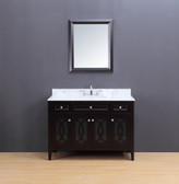 Rocca Transitional Bathroom Vanity Set with Carrera Marble Top Espresso 48""