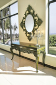 Console Table - Abelina Forest Green Finish