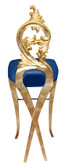 Diana Velvet Luxury Modern Bar Stool Blue Velvet