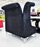 Double High Back Chair - Savoy Black