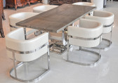 "Uscio IV Marble Dining Table 79"" - Tan Lines"