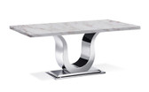 "Uscio IV Marble Dining Table 79"" - Volakas"