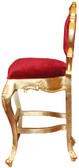Colette Modern Bar Stool Red Velvet