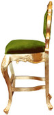 Colette Modern Bar Stool Green Velvet