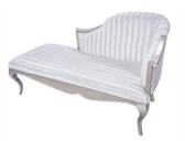 Serena Chaise Lounge Sofa - Snow White