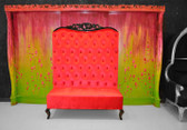 Adonis II Chaise High Back Sofa Red Velvet