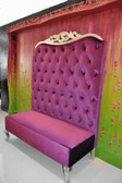 Adonis II Chaise High Back Sofa Purple Velvet