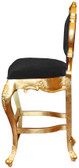 Colette Modern Bar Stool Black Velvet