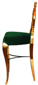 Diana Baroque Bar Stool Green Velvet with Gold Frame
