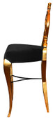 Diana Baroque Bar Stool Black Velvet with Gold Frame