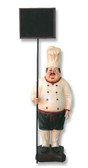 Chef Statue with Menu Sign 3FT