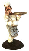 CHEF Holding Tray Statue 2FTCHEF Holding Tray Statue 2FT