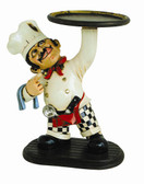 Mookie Cookie Chef Statue with Serving Tray