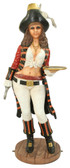 Lady Pirate Standing Life Size Statue with Serving Tray