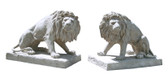 Stone Lions Statues Set of 2 Roman Stone Finish