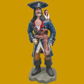 Pirate Statue with Monkey Life Size