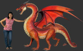Large Red Dragon Statue Life Size