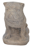 Pug Dog Statue - Roman Stone Finish