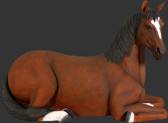 Horse Lying Down Statue Life Size
