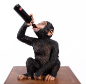 Boozy Chimp Statue Bottle Holder