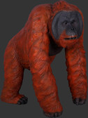 Walking Male Orangutan Life Size Statue