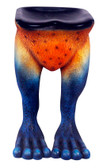 Frog Stool Rainforest Bar Stool Orange and Blue
