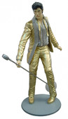 Elvis Life Size Statue with Microphone and Gold Suit