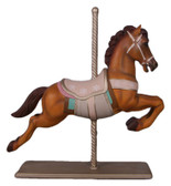 Large Carousel Brown Horse Statue