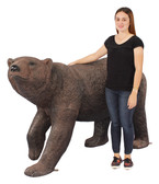 Large Grizzly Bear Walking statue