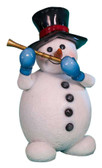 Snowman with flute Statue