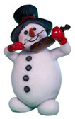 Snowman with Violin Statue
