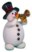 Snowman with Trumpet Statue