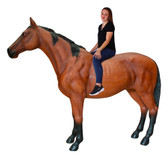 Brown Horse Life Size Statue Standing