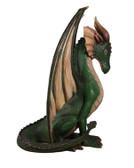 Large Green Dragon Sitting Life Size Statue
