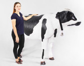 Cow Statue Life Size Holstein Black and White