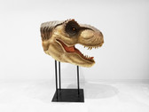 Large T-Rex Head on Stand Mouth Open