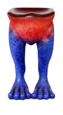 Frog Stool Rainforest Bar Stool Red and Blue