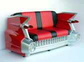 Retro 59 Red Cadillac Car Sofa